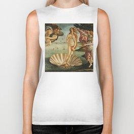 The Birth of Venus (Nascita di Venere) by Sandro Botticelli Biker Tank