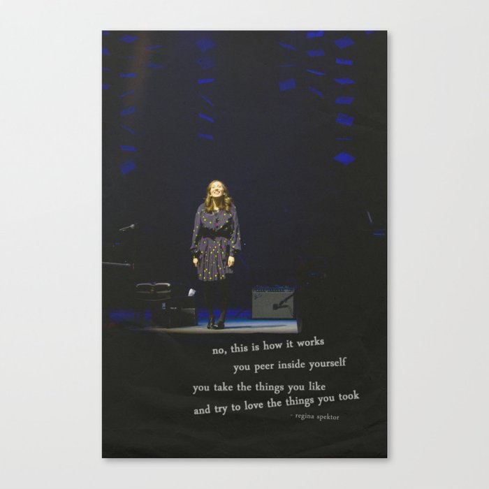 regina spektor live in toronto - on the radio Canvas Print