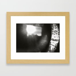 in the middle of the eye Framed Art Print