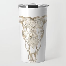 Bull Skull Gold Travel Mug