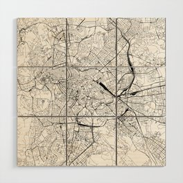 Rome White Map Wood Wall Art