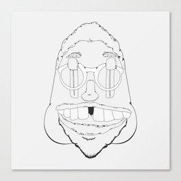 Sketchy dude Canvas Print