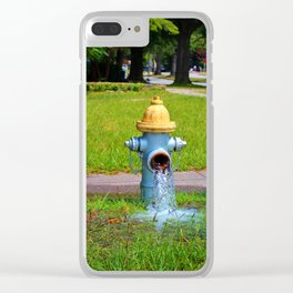 Fire Hydrant Gushing Water Clear iPhone Case