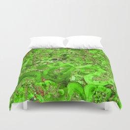 Marble Emerald Green Duvet Cover
