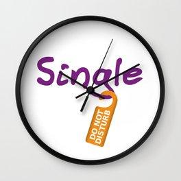 Single Do Not Disturb Wall Clock