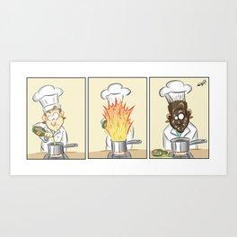 Kitchen Blunder Art Print