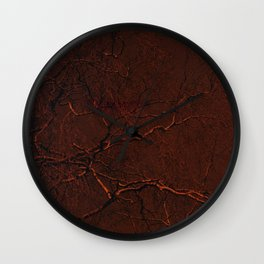 all red Wall Clock