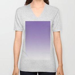 Lavender to White Unisex V-Neck