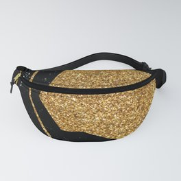 Gold Glitter Nude in One Line Fanny Pack