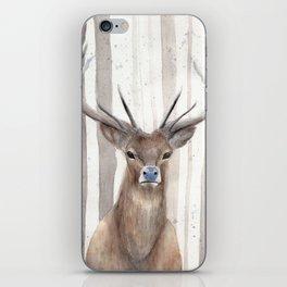 Deer in Winter Forest iPhone Skin