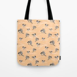 Chickadees Tote Bag