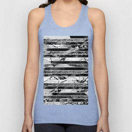 Black And White Layered Collage - Textured, mixed media Unisex Tank Top