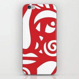 Cara Roja iPhone Skin
