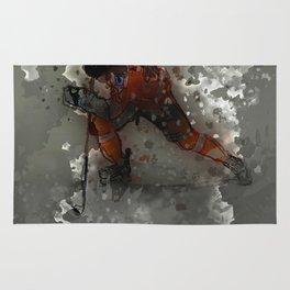 On Ice - Ice Hockey Player Modern Art Rug