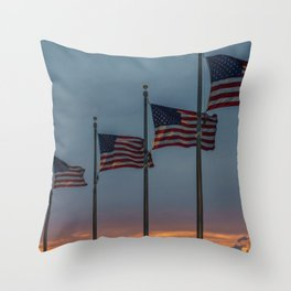 The United States of America Throw Pillow