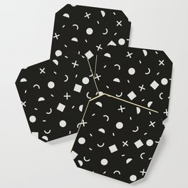 Black & White Memphis Pattern Coaster