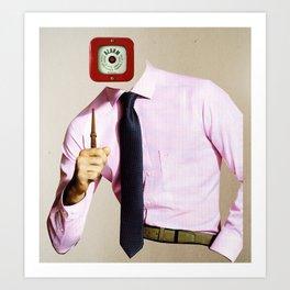 Business Man Alarm Art Print