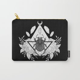 Scarab Queen // Black & White Carry-All Pouch