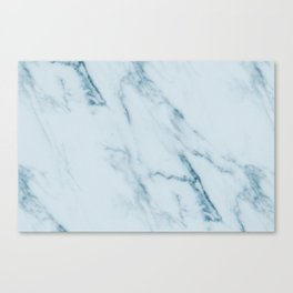 Teal Swirl Marble Canvas Print