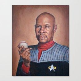 Captain Sisko - Portrait Painting Canvas Print