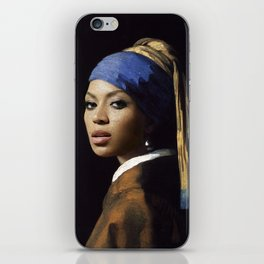 Bey with a Pearl Earring iPhone Skin