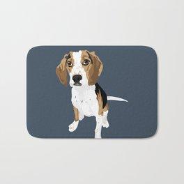 Bernie the beagle Bath Mat