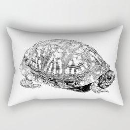 box turtle drawing Rectangular Pillow