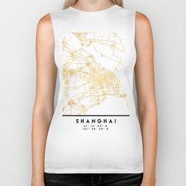 SHANGHAI CHINA CITY STREET MAP ART Biker Tank