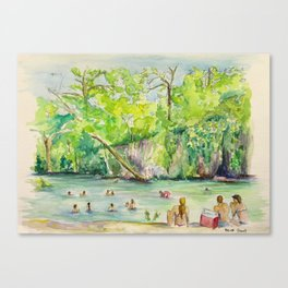Krause Springs - historic Texas natural springs swimming hole Canvas Print