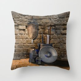 Medieval Weaponry Throw Pillow