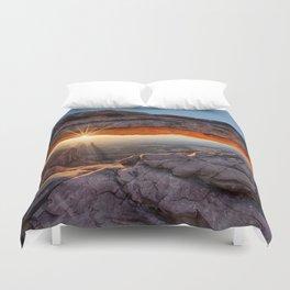 Mesa Arch Sunburst  by Lena Owens Duvet Cover