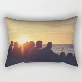 Sunset at the Baltic Sea Rectangular Pillow