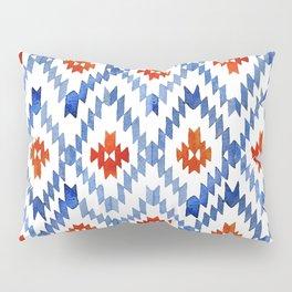 blue rhombus balinese ikat Pillow Sham
