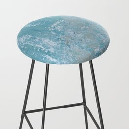 Vintage Galvanized Metal Bar Stool