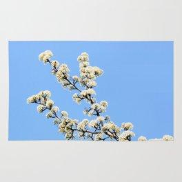 White Cherry Blossoms Rug