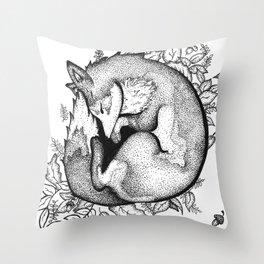 Sleeping Fox Throw Pillow