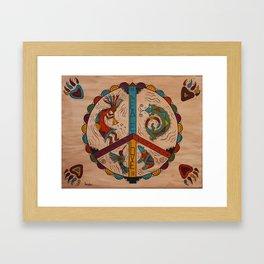 Southwest Peace Love and Harmony Framed Art Print