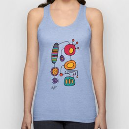 Feather Flower Chime in Color Unisex Tank Top
