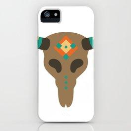 Vintage Bull Skull iPhone Case