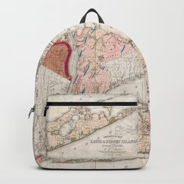 Long and Staten Island Map Backpack