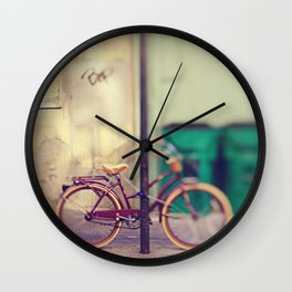 New Orleans Bicycle Wall Clock