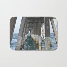 Under the Pier, Into the Ocean (Wrightsville Beach, NC) Bath Mat