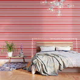 Coral Stripes Wallpaper