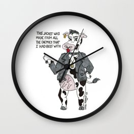 Bossy Bessy Beef Cow Wall Clock