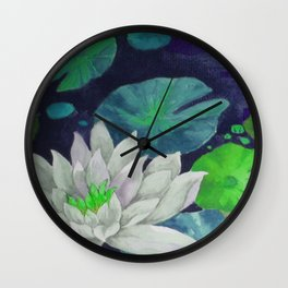 lilypad & dragonfly Wall Clock