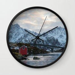 Lofoten winter Wall Clock