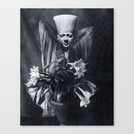 Statue and Flower Canvas Print