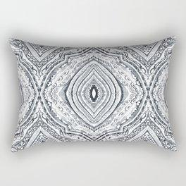 Black & White Diamond Rectangular Pillow