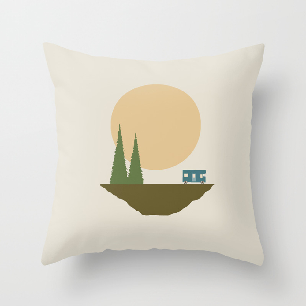 Sunny Day For Camping Couch Throw Pillow by Tammykushnir PLW3915850