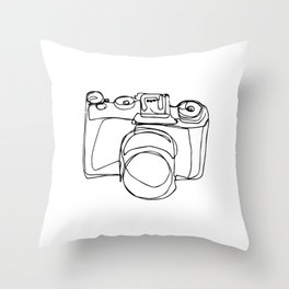 it's not the camera, but who's behind it Throw Pillow